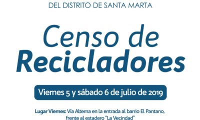Censarán a los recicladores en Santa Marta