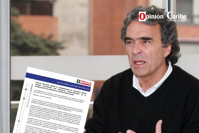 Por presuntas irregularidades en contrato imputarán cargos a Sergio Fajardo  – Opinion Caribe